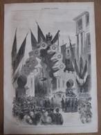Gravure  1869  Constantinople  Entrée Du Faubourg De PERA  Le Corps Municipal - Vieux Papiers