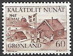 GROENLAND    -   1970  .  Y&T N° 64 **.    Libération Du Danemark - Groenland