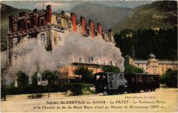 CPA LE FAYET-St-GERVAIS Les BAINS Terminus Hotel TRAM VAPEUR (977422) - Saint-Gervais-les-Bains
