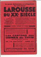 Publicité 1936 Les Cartons Des Usines Du Thym à Moutier-Rozeille Cartonneries 38 Rue Gay-Lussac Paris 229CH24 - Vieux Papiers