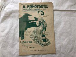 SPARTITO MUSICALE IL PIANOFORTE I CANTI D'ITALIA E.CAROSIO. - Partitions Musicales Anciennes