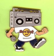 Pin's Hard Rock Café Chicago Ghetto Blaster / Radio Cassette - HRC096 - Música