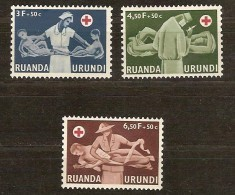 Ruanda-Urundi 1957 OCBn° 202-204 *** MNH Cote 2,75 Euro Croix Rouge Rode Kruis - Ruanda-Urundi