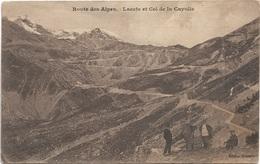 04 - Route Des Alpes Lacets Et Col De La Cayolle Animée écrite Timbrée - Autres Communes