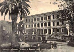 CARRARA - GIARDINO PUBBLICO E PALAZZO DELLE SCUOLE (MC) - Massa