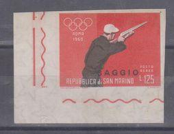 San Marino 1960  Saggio Serie Olimpiadi 1960 Roma Non Dentellato Mnh - Neufs