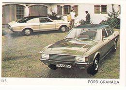 Image Style Chromo Voiture Des Années 60 / 70 / 80 / FORD GRANADA - Vieux Papiers