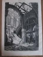Gravure  1869 Paris Le Nouveau Grand Opéra En Construction     Vue Du Grand Escalier - Vieux Papiers