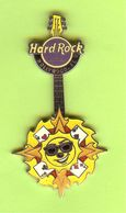 Pin's Hard Rock Café Hollywood Guitare Soleil (4 As) - HRC101 - Musica