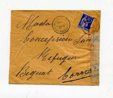 !!! LETTRE D'UN ITALIEN DETENU AU CAMP DE GURS DU 30/1/1940 POUR LA CORREZE, AVEC CENSURE MILITAIRE - 2. Weltkrieg 1939-1945