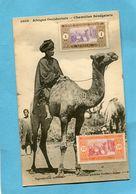 A O F- Sénégal-chamelier Sénégalais-gros Plan Animé-édition Fortier-années 1910-20 - Senegal