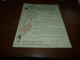 Document Football RUSB Binchois Binche 1945 - Historical Documents
