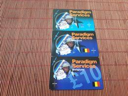Paradigm Belgium Military 3 Different Prepaidcards Belgium 2 Scans  Used Very Rare - Belgique