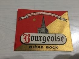 Ancienne Étiquette 1.2 BIÈRE BOCK BOURGEOISE BRASSERIE ROGEZ AGNEZ LES DUISANS PAS DE CALAIS - Beer