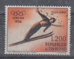 San Marino 1955  Posta Aerea Olimpiadi Di Cortina Usato - Neufs