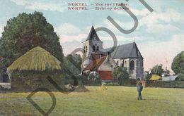 Postkaart - Carte Postale - Wortel - Zicht Op De Kerk - Kleur (B597) - Hoogstraten