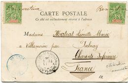 MADAGASCAR CARTE POSTALE DE TANANARIVE DEPART OBLITERATION MANUSCRITE RAMARTINA POUR LA FRANCE  (RR) - Madagascar (1889-1960)