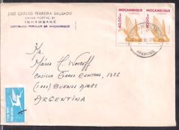Mozambique - 1987 - Lettre - Air Mail - To Argentina - Cygnus - Mozambique