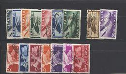 REPUBBLICA 1945 POSTA AEREA + ESPRESSI DEMOCRATICA SERIE CPL. USATE - 1946-.. République