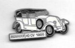 Pin's  Mat, Automobile  RENAULT  Blanche  40 CV  1926  Signé  C E F  PARIS - Renault