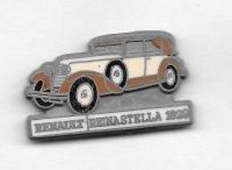 Pin's  Mat, Automobile  RENAULT  Blanche  Et  Marron  REINASTELLA  1929  Signé  C E F  PARIS - Renault
