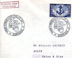 C8 1951 LETTRE CACHET EXPO BORDEAUX - Marcophilie (Lettres)