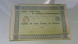 L'ART THEATRAL & CINEMATOGRAPHIQUE - Actions & Titres
