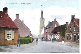CPA / AK / PK  -   BIXSCHOOTE    Plaatstraat - Langemark-Poelkapelle