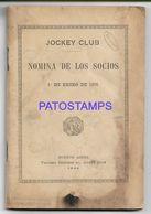 137137 ARGENTINA BUENOS AIRES JOCKEY CLUB NOMINA DE LOS SOCIOS YEAR 1946 LIBRILLO DAMAGED NO POSTAL POSTCARD - Otras Colecciones