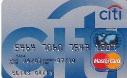 GREECE - CitiBank MasterCard(reverse Axalto), 06/06, Used - Carte Di Credito (scadenza Min. 10 Anni)