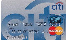 GREECE - CitiBank MasterCard(reverse Axalto), 02/05, Used - Carte Di Credito (scadenza Min. 10 Anni)