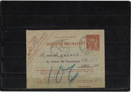 CTN63/EP - EN PNEUMATIQUE CHAPLAIN 40c - Postal Stamped Stationery