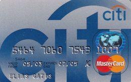 GREECE - CitiBank MasterCard(reverse Schlumberger), 11/02, Used - Carte Di Credito (scadenza Min. 10 Anni)