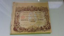 CHARGEURS REUNIS Compagnie De Navigation A Vapeur (1939) - Actions & Titres