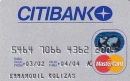 GREECE - CitiBank MasterCard(Oberthur), 09/01, Used - Carte Di Credito (scadenza Min. 10 Anni)