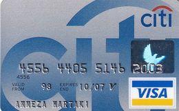 GREECE - CitiBank Visa(Axalto), 01/05, Used - Carte Di Credito (scadenza Min. 10 Anni)