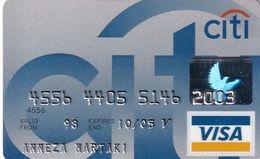GREECE - CitiBank Visa(Schlumberger), 11/02, Used - Carte Di Credito (scadenza Min. 10 Anni)