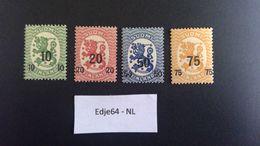 1919 Finland Frankeerzegels Drievoudige Cijferopdruk - Finland