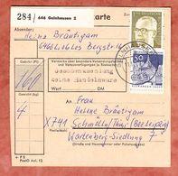 Paketkartenteil, Heinemann + Bauwerke, Gelnhausen Nach Schmoelln 1970 (95628) - [7] Federal Republic