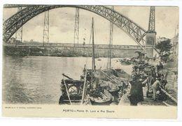 PORTUGAL-POSTCARDS-- PORTO-PONTE D. LUIS  E RIO DOURO-- EDITOR  A. CANEDO - Porto