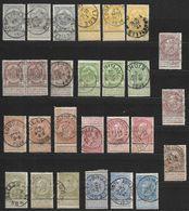 53 à 61 Oblitérés (3X) (Nic 057) - 1893-1900 Barba Corta
