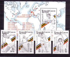 Olympics 1992 - Baseball - TURKS & CAICOS - S/S+Set MNH - Sommer 1992: Barcelone