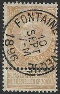 62 Oblitération Fontaine-l'Evêque Le 10 Sept 1896 (Nic  805)) - 1893-1900 Fine Barbe