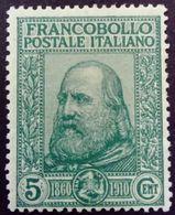 Italie Italy Italia 1910 Garibaldi Yvert 83 * MH - 1900-44 Victor Emmanuel III.