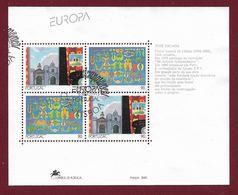 Portugal  1993  Mi.Nr. Sheet 93 (1959 / 1960)  , EUROPA CEPT  Zeitgenössische Kunst - Gestempelt / Fine Used / (o) - 1910-... República