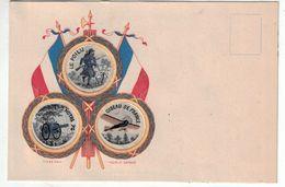 Tissé Soie - Drapeau - Pavillon Tricolore - Le Poilu - Notre Canon 75 - Aviation - Oiseau De France - Guerre 1914-18 - War 1914-18