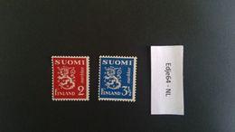 1936 Finland Frankeerzegels Leeuw Op Egale Achtergrond - Finland
