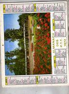 Almanach Des PTT  Paysage Automne Roseraie De La Tête D'or - 75 Paris 92  93  94 Plans Cartes Métro - Jean Lavigne - Calendari