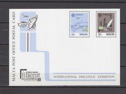 Malta 1988 Space Commemorative Postcard - Covers & Documents