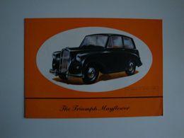 Automobilia , Plaquette Originale Pour Voiture Anglaise TRIUMPH Mayflower,The Standard Motor Co. - Automovilismo